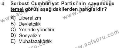 Atatürk İlkeleri Ve İnkılap Tarihi 2 Dersi 2012 - 2013 Yılı Tek Ders Sınavı 4. Soru