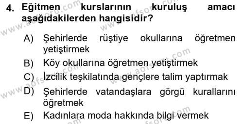 Atatürk İlkeleri Ve İnkılap Tarihi 2 Dersi Ara Sınavı Deneme Sınav Soruları 4. Soru