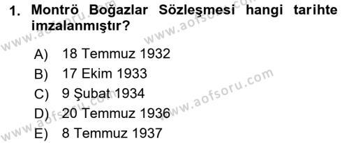 Atatürk İlkeleri Ve İnkılap Tarihi 2 Dersi 2018 - 2019 Yılı (Final) Dönem Sonu Sınav Soruları 1. Soru