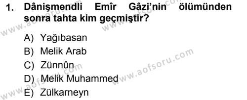 Orta Çağ ve Yeni Çağ Türk Devletleri Tarihi Dersi 2012 - 2013 Yılı (Vize) Ara Sınav Soruları 1. Soru