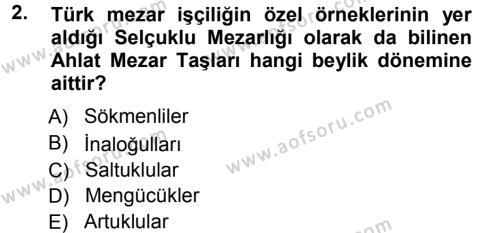 Orta Çağ ve Yeni Çağ Türk Devletleri Tarihi Dersi 2012 - 2013 Yılı (Vize) Ara Sınav Soruları 2. Soru