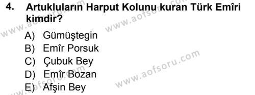 Orta Çağ ve Yeni Çağ Türk Devletleri Tarihi Dersi 2012 - 2013 Yılı (Vize) Ara Sınav Soruları 4. Soru