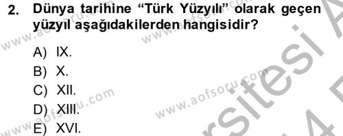 Tarih Bölümü 4. Yarıyıl Osmanlı Tarihi (1566-1789) Dersi 2014 Yılı Bahar Dönemi Ara Sınavı 2. Soru