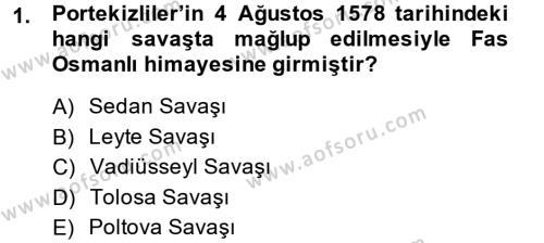 Tarih Bölümü 4. Yarıyıl Osmanlı Tarihi (1566-1789) Dersi 2015 Yılı Bahar Dönemi Ara Sınavı 1. Soru