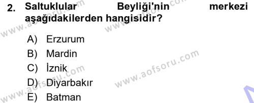 Türkiye Selçuklu Tarihi Dersi 2015 - 2016 Yılı Ara Sınavı 2. Soru