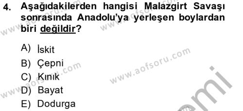 Osmanlı´da İskan ve Göç Dersi 2013 - 2014 Yılı (Vize) Ara Sınav Soruları 4. Soru