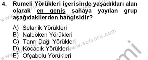Osmanlı´da İskan ve Göç Dersi 2014 - 2015 Yılı Dönem Sonu Sınavı 4. Soru