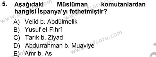 Tarih Bölümü 3. Yarıyıl Orta Çağ-Yeni Çağ Avrupa Tarihi Dersi 2013 Yılı Güz Dönemi Ara Sınavı 5. Soru