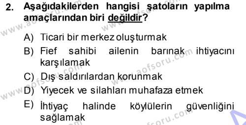 Tarih Bölümü 3. Yarıyıl Orta Çağ-Yeni Çağ Avrupa Tarihi Dersi 2014 Yılı Güz Dönemi Dönem Sonu Sınavı 2. Soru