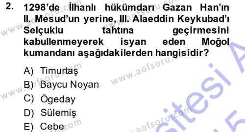 Tarih Bölümü 3. Yarıyıl Osmanlı Tarihi (1299-1566) Dersi 2015 Yılı Güz Dönemi Ara Sınavı 2. Soru