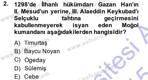 Osmanlı Tarihi (1299-1566) Dersi 2014 - 2015 Yılı Ara Sınavı 2. Soru
