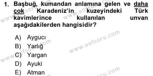 Osmanlı Tarihi (1299-1566) Dersi 2017 - 2018 Yılı Ara Sınavı 1. Soru