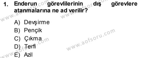 Osmanlı Merkez ve Taşra Teşkilatı Dersi 2013 - 2014 Yılı Ara Sınavı 1. Soru