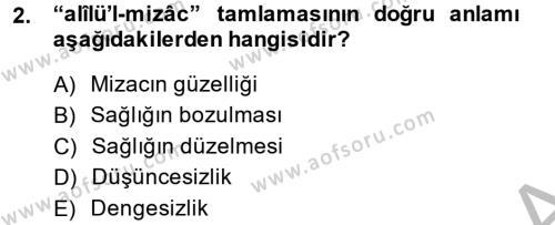 Osmanlı Türkçesi Metinleri 2 Dersi 2013 - 2014 Yılı (Vize) Ara Sınav Soruları 2. Soru
