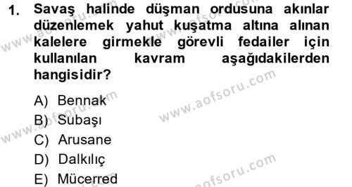 Tarih Bölümü 4. Yarıyıl Osmanlı Yenileşme Hareketleri (1703-1876) Dersi 2015 Yılı Bahar Dönemi Ara Sınavı 1. Soru