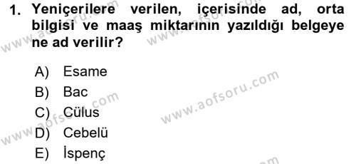 Tarih Bölümü 4. Yarıyıl Osmanlı Yenileşme Hareketleri (1703-1876) Dersi 2016 Yılı Bahar Dönemi Ara Sınavı 1. Soru