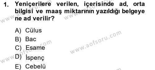 Osmanlı Yenileşme Hareketleri (1703-1876) Dersi 2014 - 2015 Yılı Dönem Sonu Sınavı 1. Soru