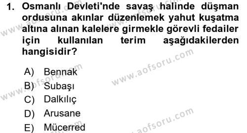 Osmanlı Yenileşme Hareketleri (1703-1876) Dersi 2016 - 2017 Yılı (Vize) Ara Sınav Soruları 1. Soru