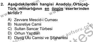 Emlak ve Emlak Yönetimi Bölümü 4. Yarıyıl Mimarlik Tarihi Dersi 2013 Yılı Bahar Dönemi Ara Sınavı 2. Soru