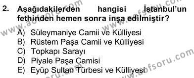 Mimarlik Tarihi Dersi 2013 - 2014 Yılı Ara Sınavı 2. Soru