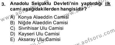 Mimarlik Tarihi Dersi 2013 - 2014 Yılı Ara Sınavı 3. Soru