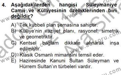 Mimarlik Tarihi Dersi 2014 - 2015 Yılı Ara Sınavı 4. Soru