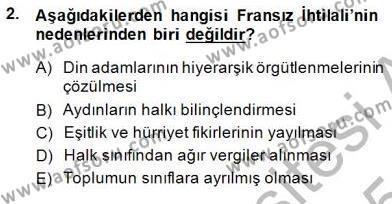 Tarih Bölümü 7. Yarıyıl Yakınçağ Avrupa Tarihi Dersi 2015 Yılı Güz Dönemi Ara Sınavı 2. Soru