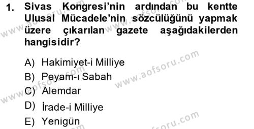 Türkiye Cumhuriyeti Siyasî Tarihi Dersi 2013 - 2014 Yılı Tek Ders Sınav Soruları 1. Soru