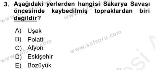 Türkiye Cumhuriyeti Siyasî Tarihi Dersi 2015 - 2016 Yılı Ara Sınavı 3. Soru