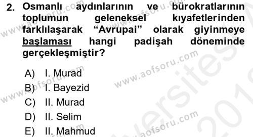 Türkiye Cumhuriyeti Siyasî Tarihi Dersi 2017 - 2018 Yılı Ara Sınavı 2. Soru