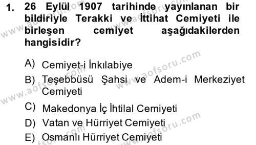 Türkiye Cumhuriyeti İktisat Tarihi Dersi 2013 - 2014 Yılı Ara Sınavı 1. Soru