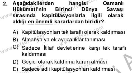 Türkiye Cumhuriyeti İktisat Tarihi Dersi 2013 - 2014 Yılı Ara Sınavı 2. Soru