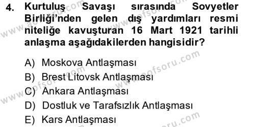 Türkiye Cumhuriyeti İktisat Tarihi Dersi 2013 - 2014 Yılı Ara Sınavı 4. Soru