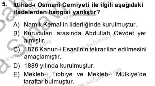 Tarih Bölümü 6. Yarıyıl Türkiye Cumhuriyeti İktisat Tarihi Dersi 2015 Yılı Bahar Dönemi Ara Sınavı 5. Soru