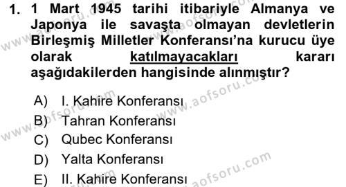 Türkiye Cumhuriyeti İktisat Tarihi Dersi 2015 - 2016 Yılı Dönem Sonu Sınavı 1. Soru
