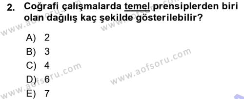 Tarihi Coğrafya Dersi 2015 - 2016 Yılı Ara Sınavı 2. Soru