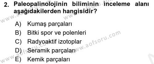 Tarihi Coğrafya Dersi 2017 - 2018 Yılı Dönem Sonu Sınavı 2. Soru