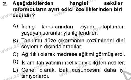 XIX. Yüzyıl Türk Dünyası Dersi 2014 - 2015 Yılı Dönem Sonu Sınavı 2. Soru