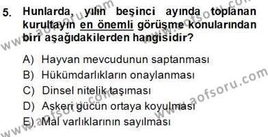 Tarih Bölümü 8. Yarıyıl Hukuk Tarihi Dersi 2015 Yılı Bahar Dönemi Dönem Sonu Sınavı 5. Soru