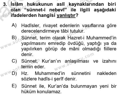 Hukuk Tarihi Dersi 2015 - 2016 Yılı (Final) Dönem Sonu Sınav Soruları 3. Soru
