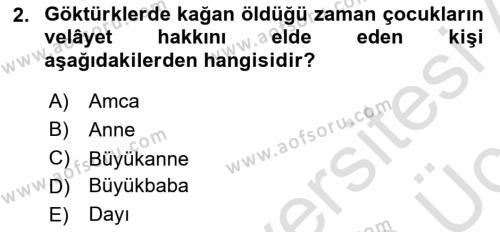 Hukuk Tarihi Dersi 2018 - 2019 Yılı 3 Ders Sınav Soruları 2. Soru