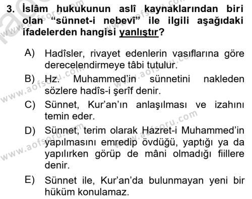 Hukuk Tarihi Dersi 2018 - 2019 Yılı 3 Ders Sınav Soruları 3. Soru