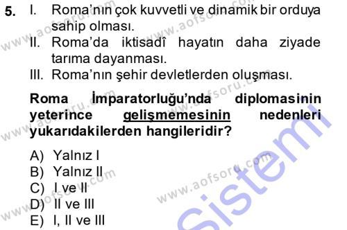 Tarih Bölümü 5. Yarıyıl Osmanlı Diplomasisi Dersi 2014 Yılı Güz Dönemi Ara Sınavı 5. Soru