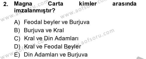 Türkiye´de Demokrasi Ve Parlemento Tarihi Dersi 2013 - 2014 Yılı (Vize) Ara Sınav Soruları 2. Soru