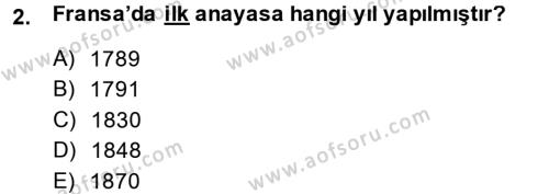 Türkiye´de Demokrasi Ve Parlemento Tarihi Dersi 2014 - 2015 Yılı (Vize) Ara Sınav Soruları 2. Soru