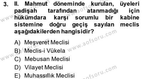 Türkiye´de Demokrasi Ve Parlemento Tarihi Dersi 2014 - 2015 Yılı (Final) Dönem Sonu Sınav Soruları 3. Soru