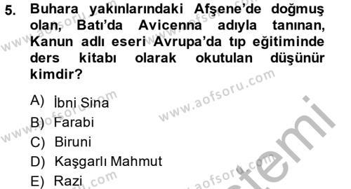 Tarih Bölümü 6. Yarıyıl Eğitim Tarihi Dersi 2014 Yılı Bahar Dönemi Dönem Sonu Sınavı 5. Soru