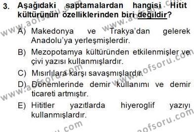 Tarih Bölümü 8. Yarıyıl Türk Kültür Tarihi Dersi 2015 Yılı Bahar Dönemi Ara Sınavı 3. Soru