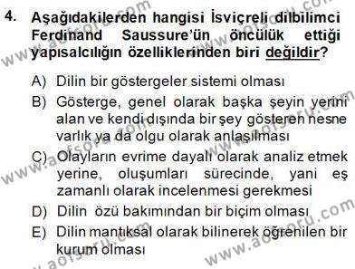 Türk Kültür Tarihi Dersi 2014 - 2015 Yılı Dönem Sonu Sınavı 4. Soru