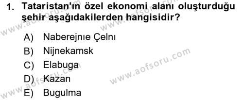 Çağdaş Türk Dünyası Dersi 2016 - 2017 Yılı 3 Ders Sınav Soruları 1. Soru